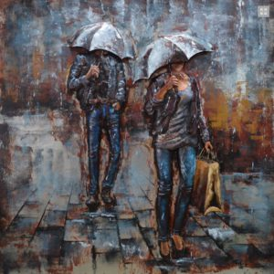 folowing in the rain 100x100
